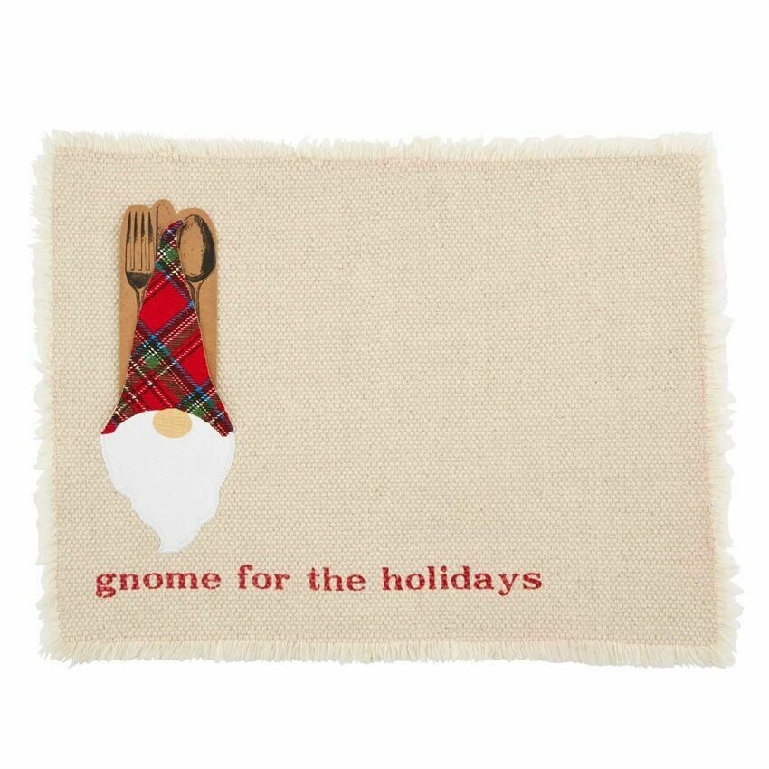 Cream Gnome Pocket Placemat