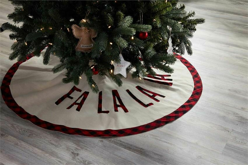 Fa La La Buffalo Check Tree Skirt