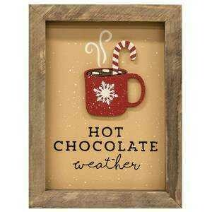 Framed Hot Chocolate Sign