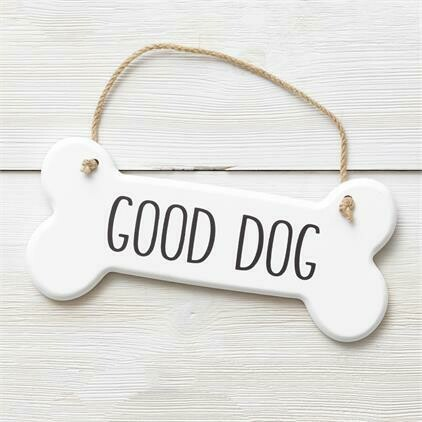Good Dog Bone Sign