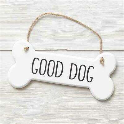 Good Dog Bone Sign
