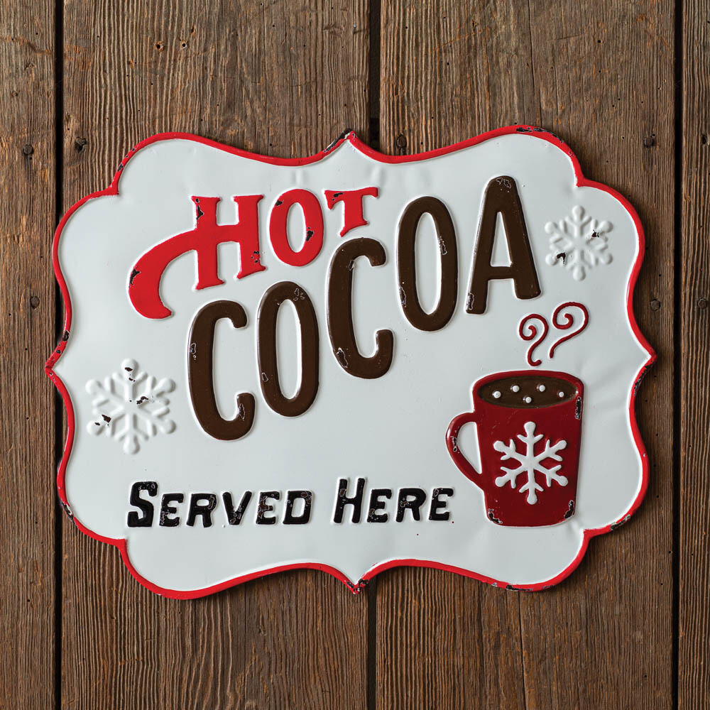 Hot Cocoa Served Here Sign