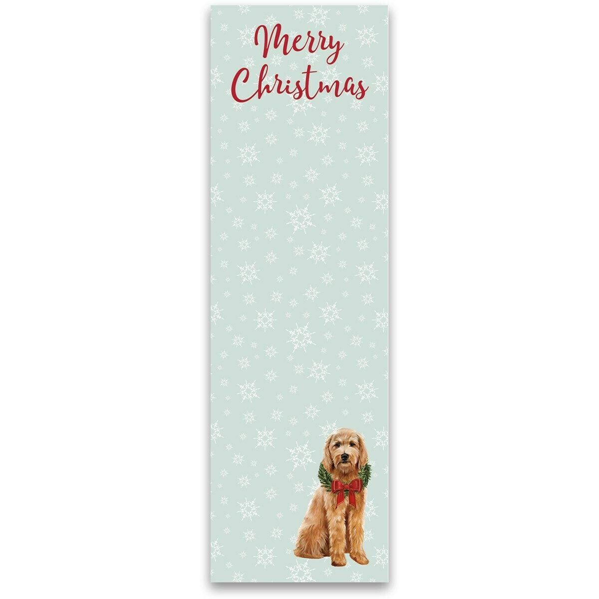 Merry Christmas Goldendoodle Notepad