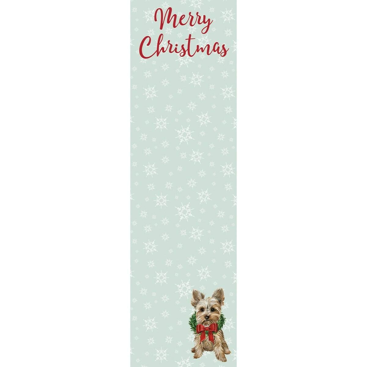 Merry Christmas Yorkie Notepad