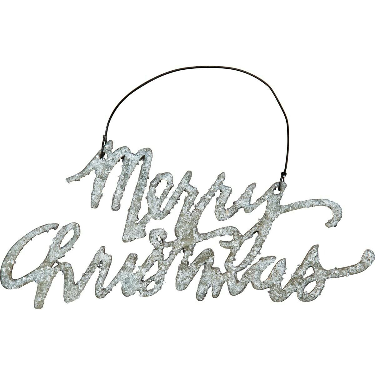 Metal Merry Christmas Ornament