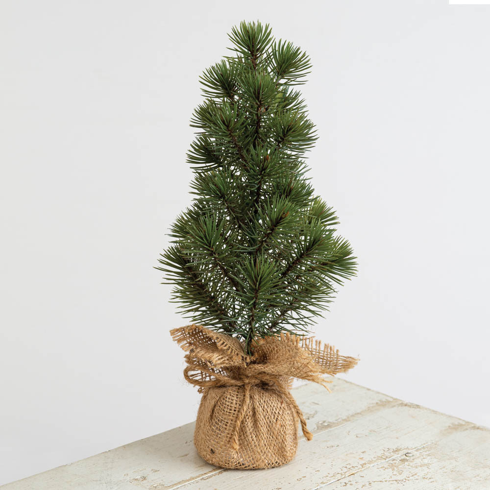 Mini Pine Tree in Burlap Sack