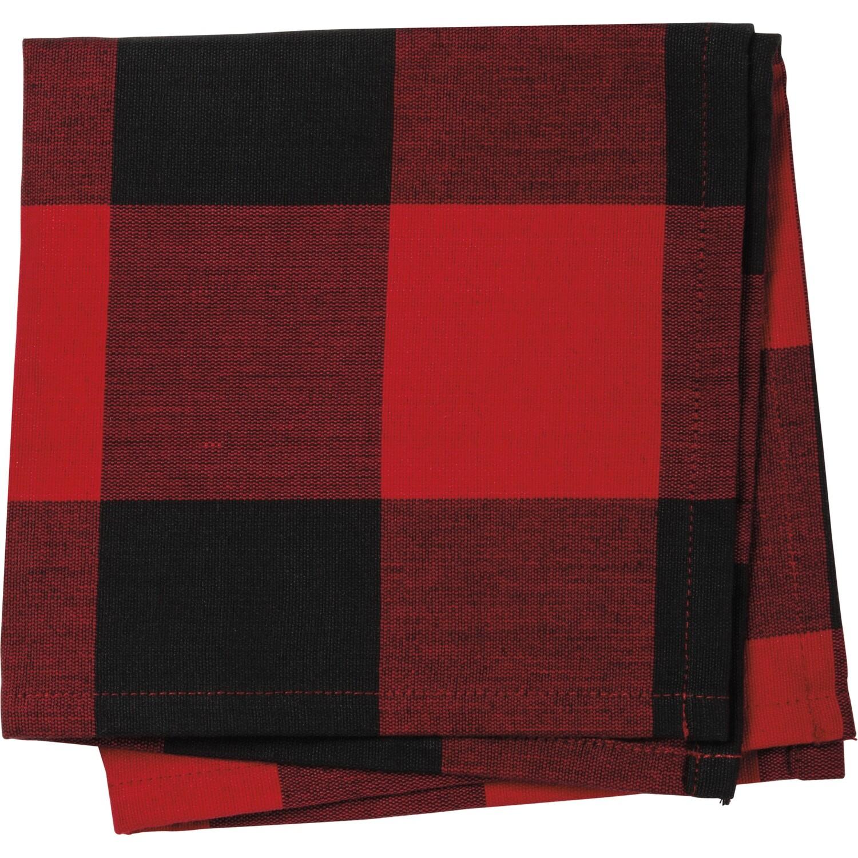 Red & Black Check Napkin