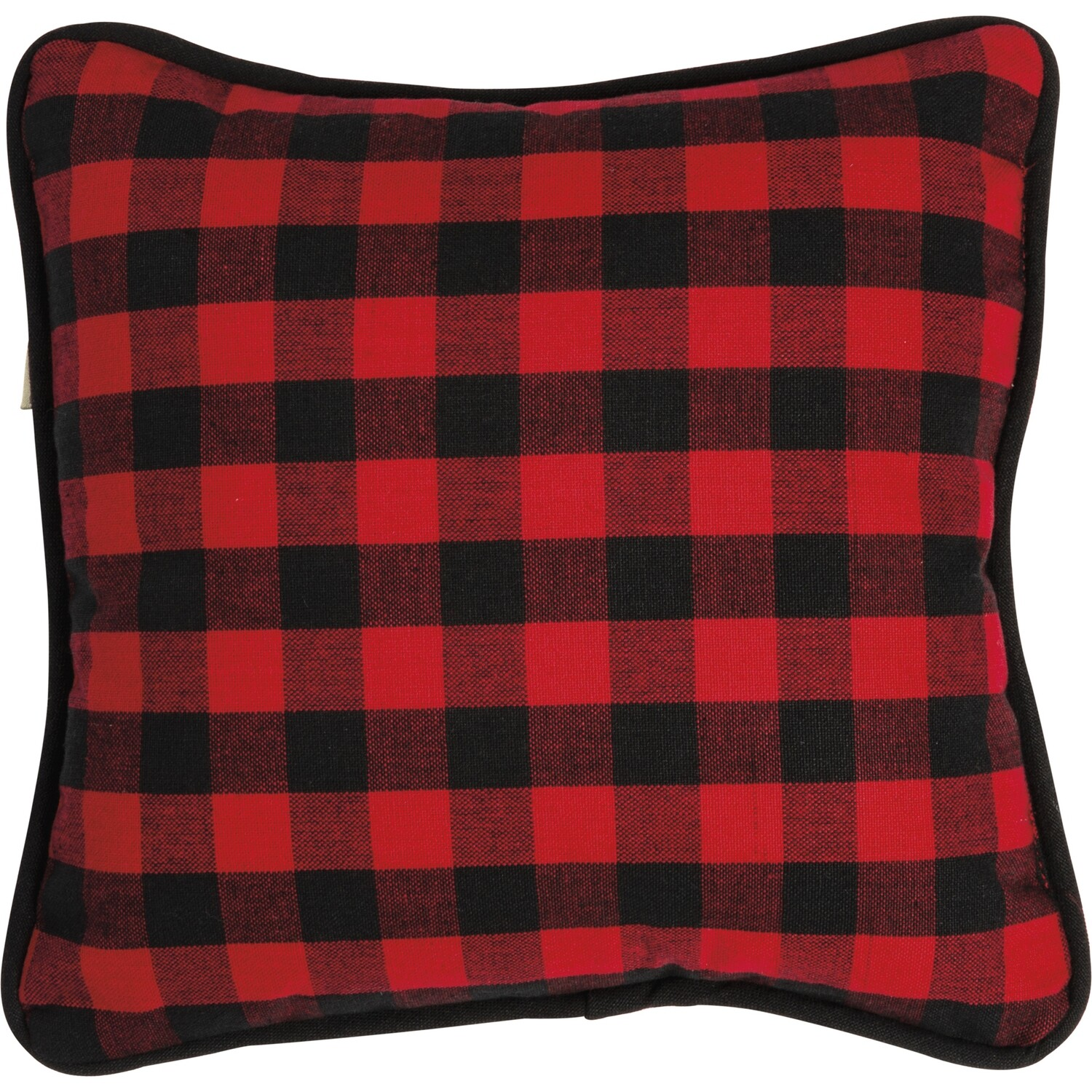 Red & Black Check Pillow