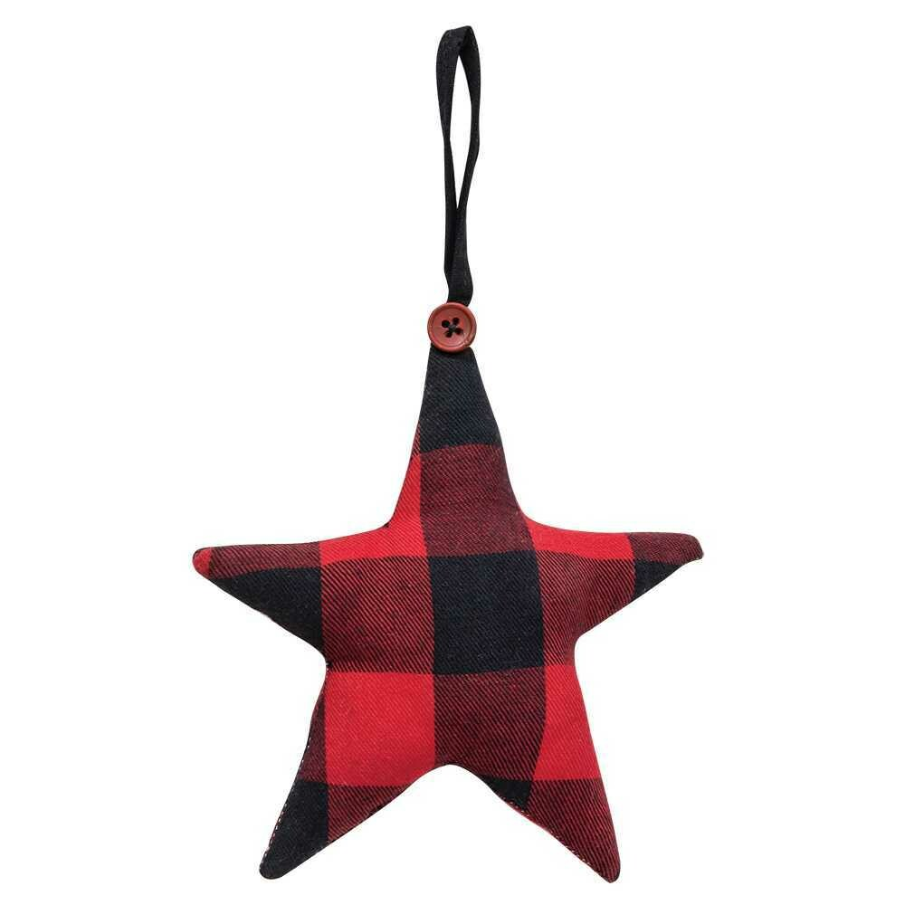 Red Buffalo Check Star Ornament