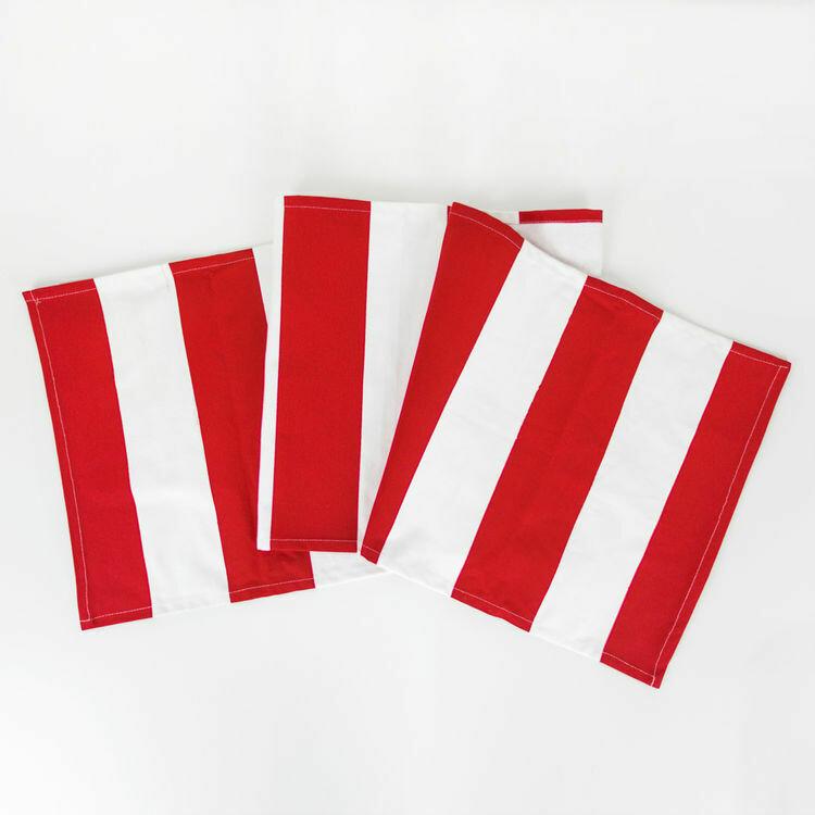 Red & White Striped Table Runner