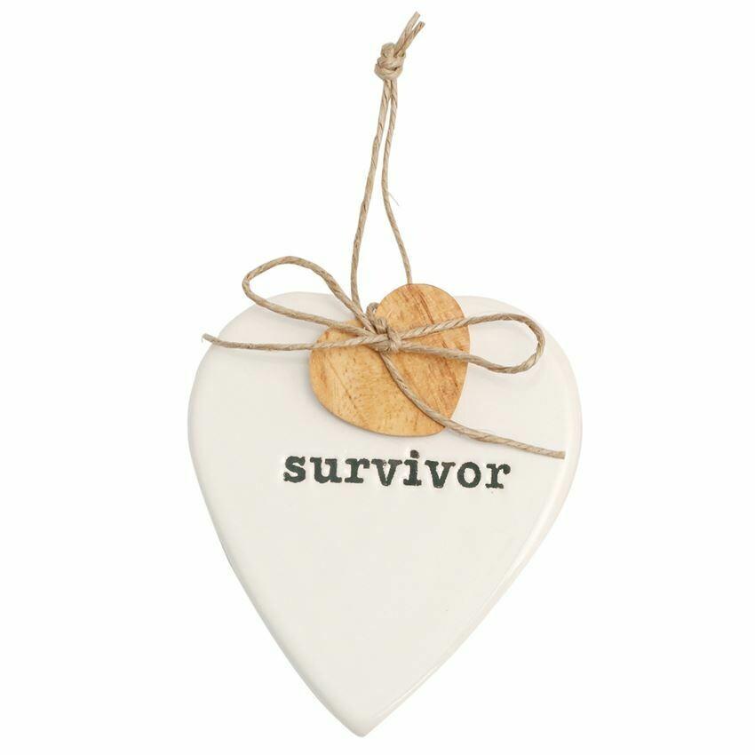 Survivor Heart Ornament
