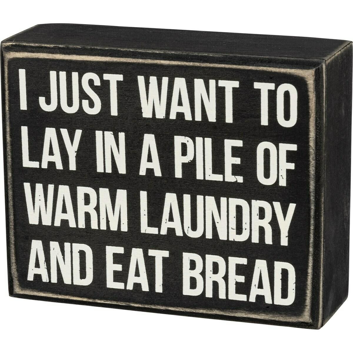 Warm Laundry Box Sign