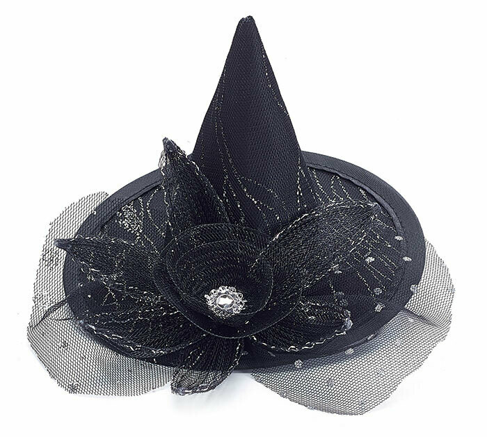 Sm Witch Hat with Flower