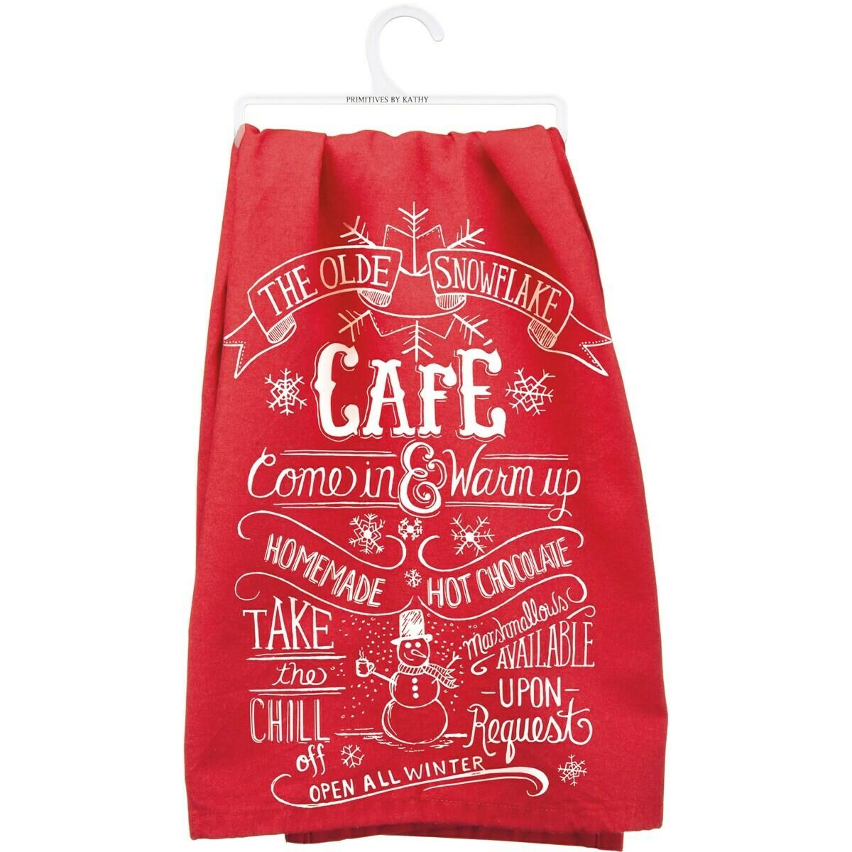 Snowflake Cafe Towel