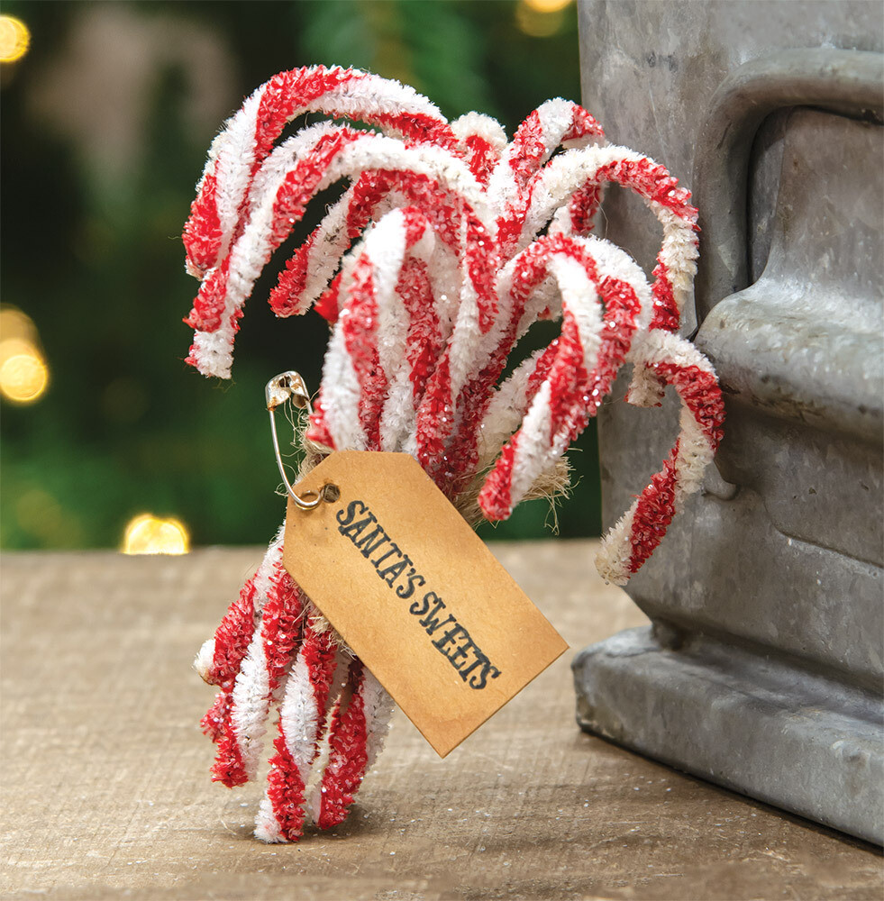 Set of 12 Sparkle Candy Canes