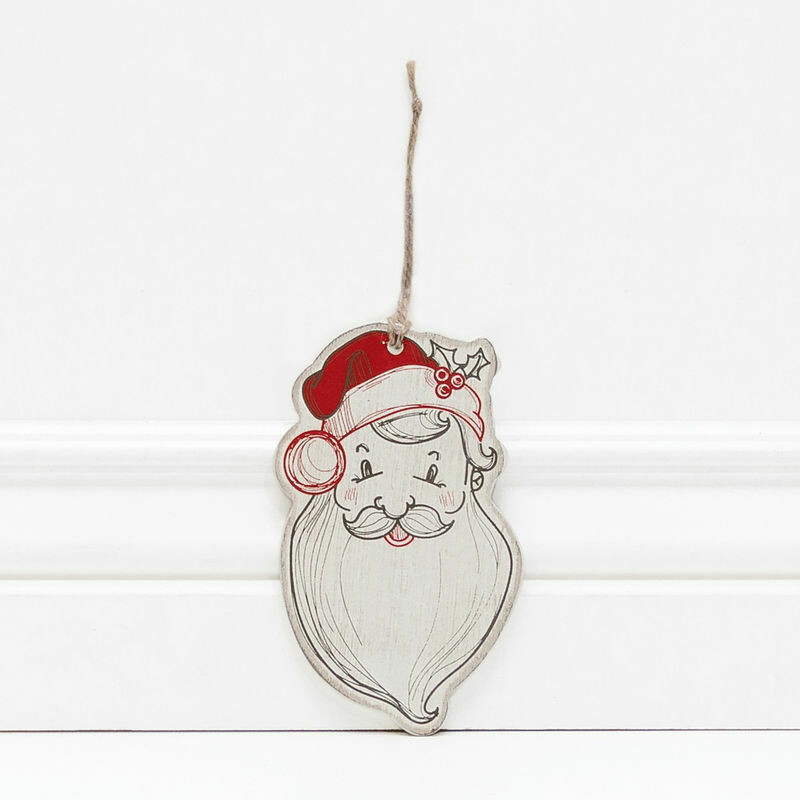 Santa Wood Ornament