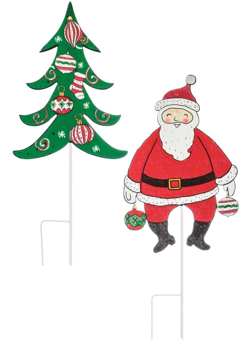 Santa/Tree Yard Stakes