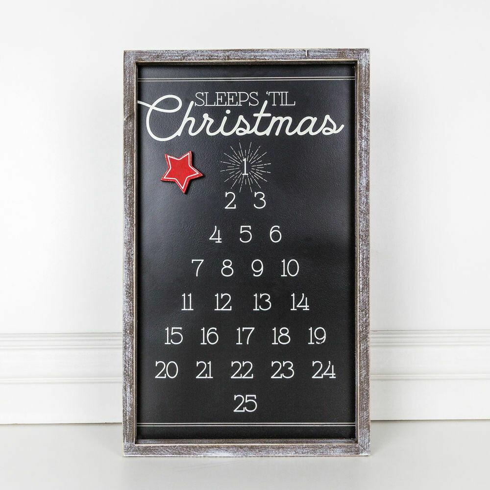 Sleeps til Christmas Sign