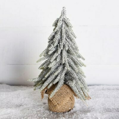 Sm Frosted Burlap Tree