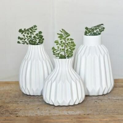Sm Matte White Ceramic Vase