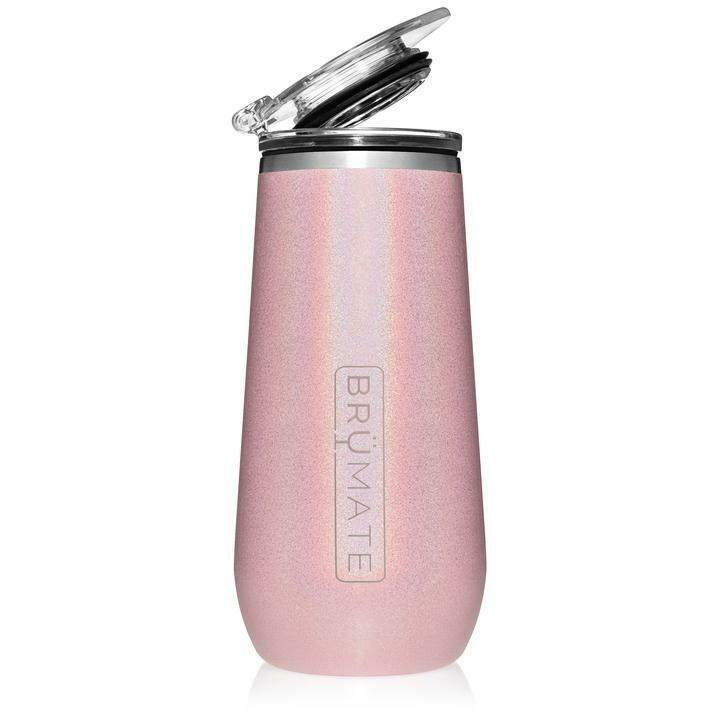 Glitter Blush Champagne Flute