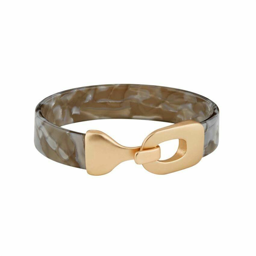 Gray Resin Cuff Bracelet