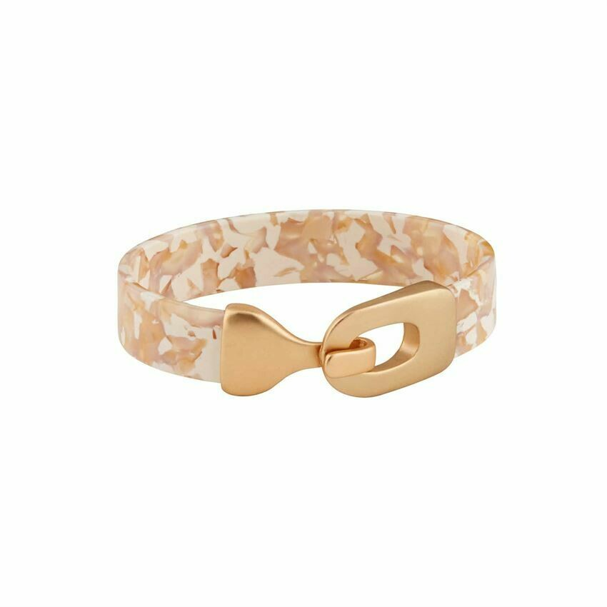Blush Resin Cuff Bracelet