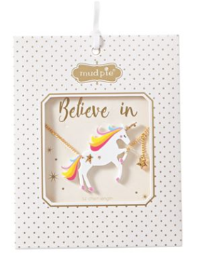 White Unicorn Necklace