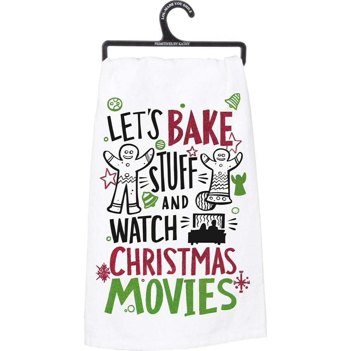 Bake & Movies Glitter Dish Towel