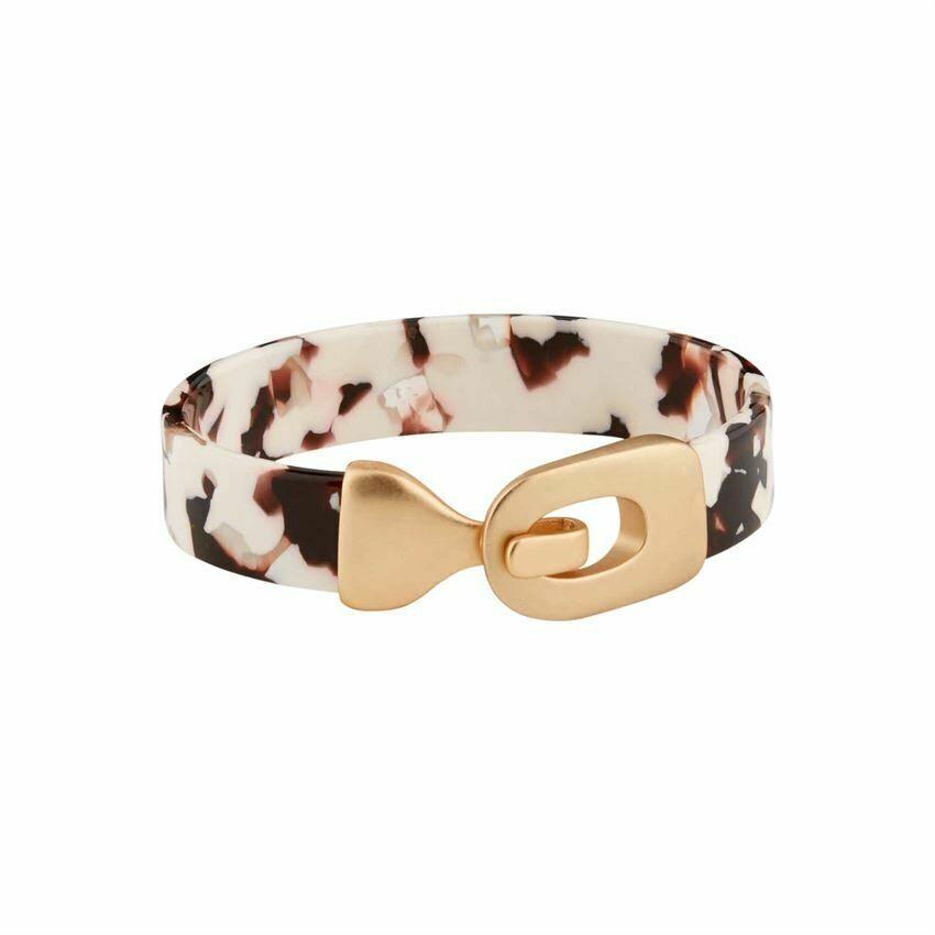 Tan Resin Cuff Bracelet
