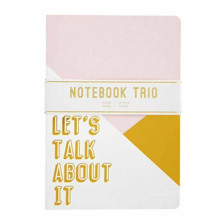 Blush Notebook Trio