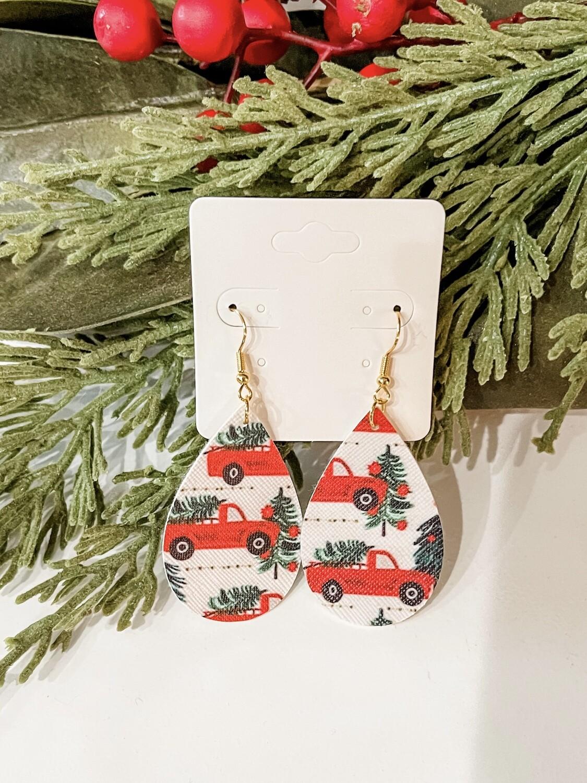 Red Truck Earrings
