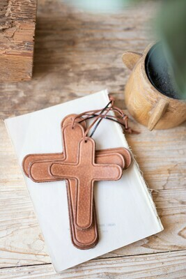 Set of 3 Leather Crosses