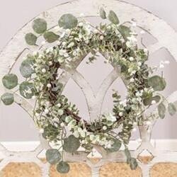 Glitter Frosted Eucalyptus Wreath