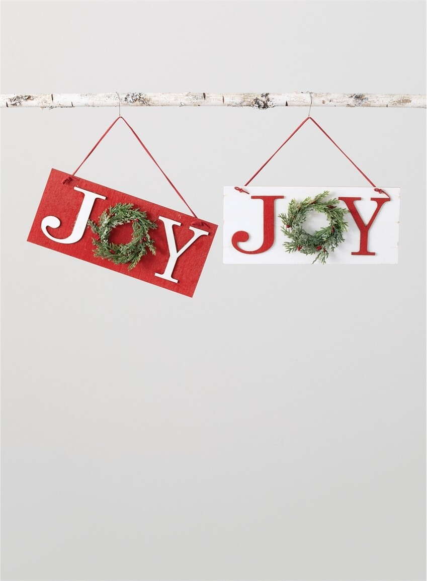 Joy Wreath Hanger