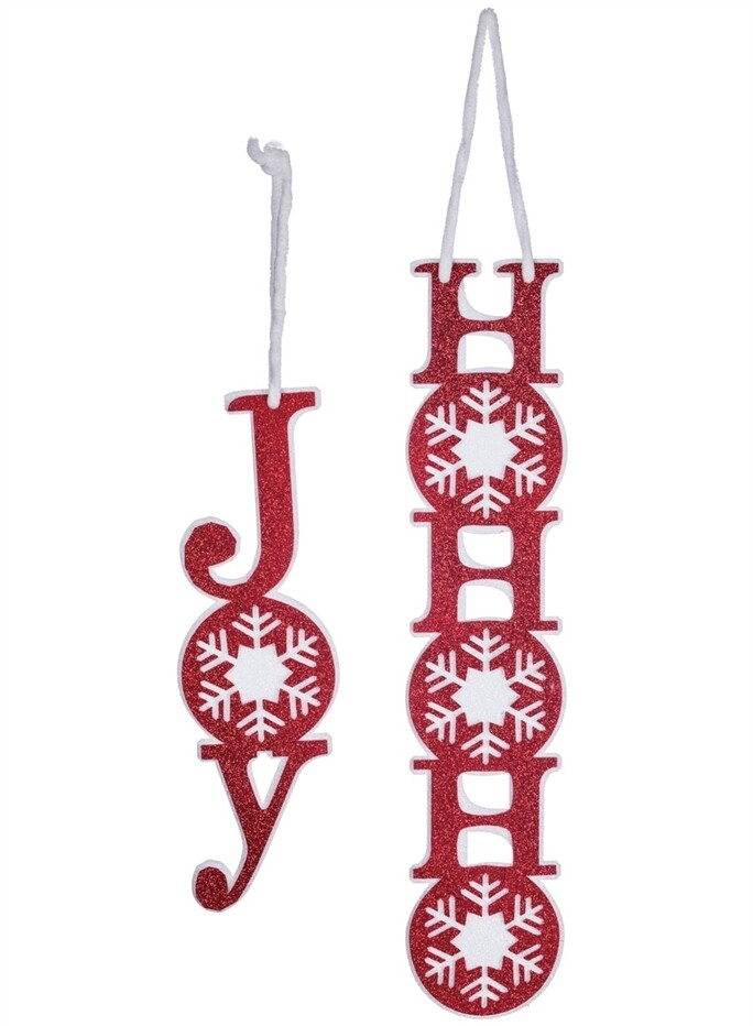 Joy/Ho Ho Ho Felt Ornament