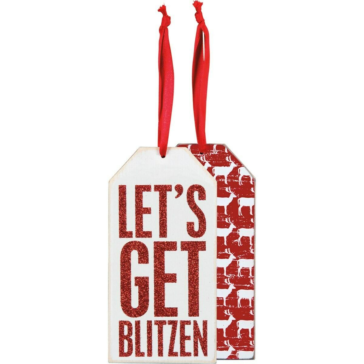 Lets Get Blitzen Wine Tag