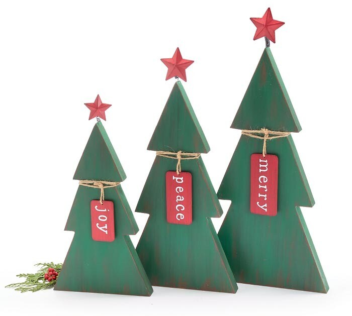 Lg Green Tree with Tag