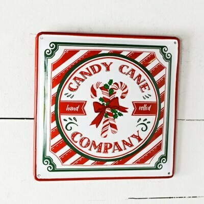 Metal Candy Cane Sign