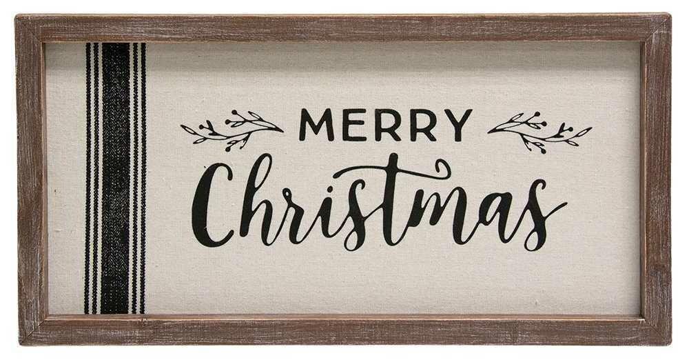 Grain Sack Merry Christmas Sign