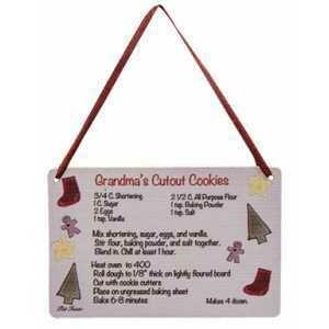 Grandma's Cookie Recipe Ornament