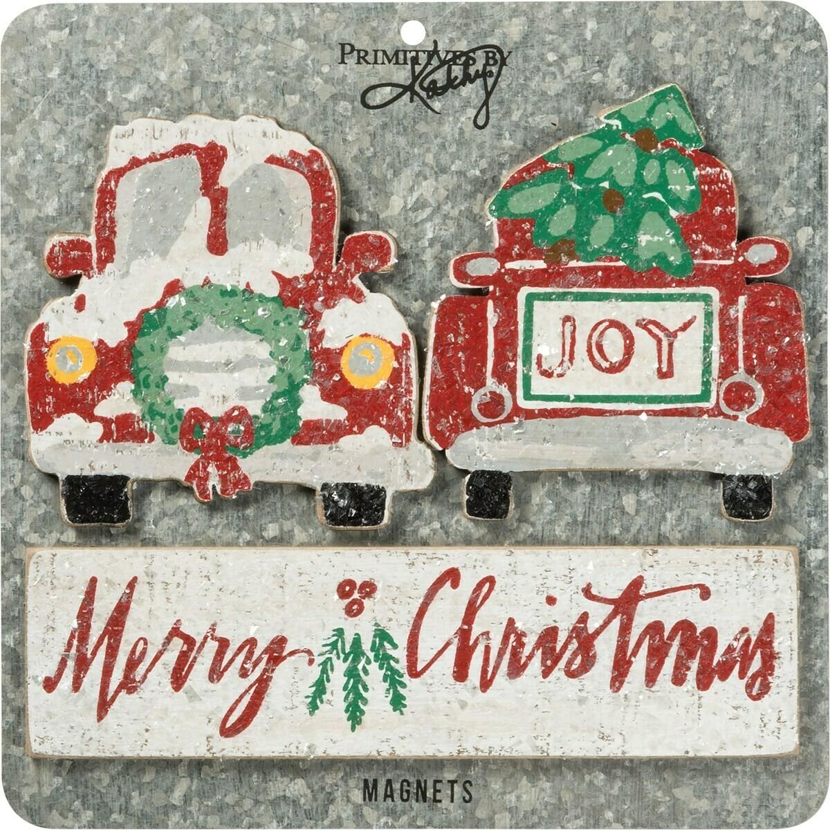 Snowy Christmas Magnet Set