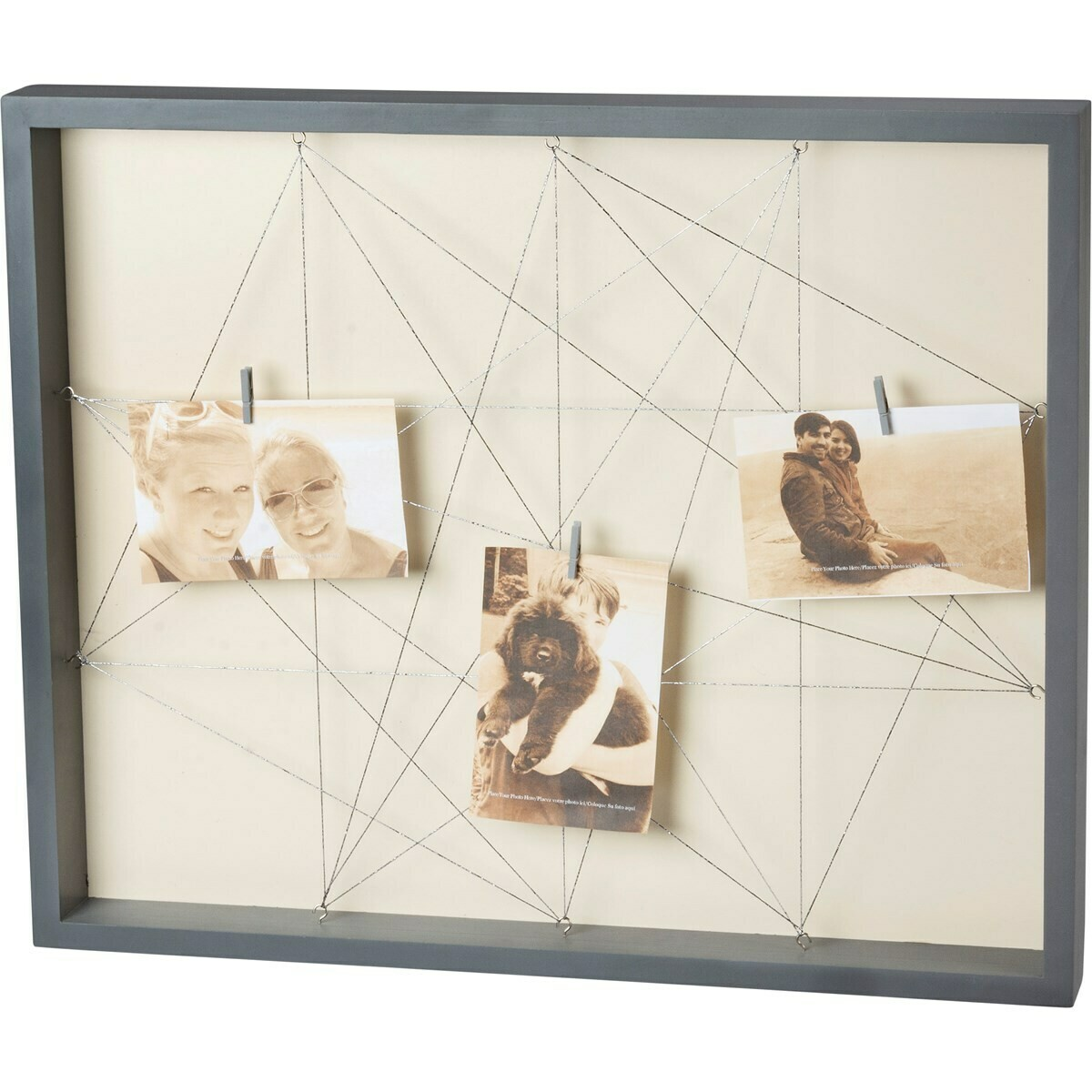 Gray String Photo Frame