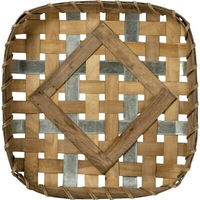 Wood & Metal Tobacco Basket