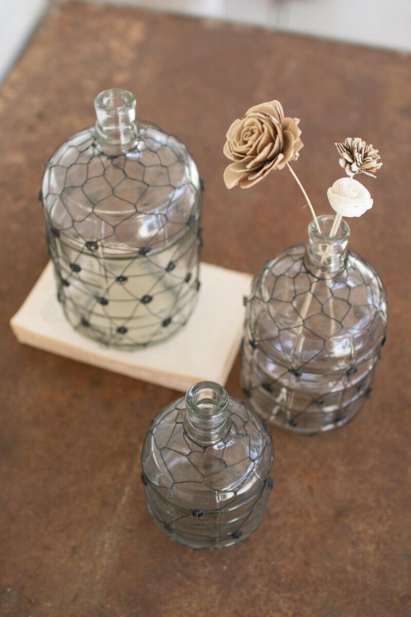 Lg Black Wire Vase