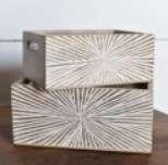 Lg Starburst Wood Box