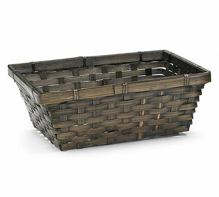 Dk Brown Rectangle Basket