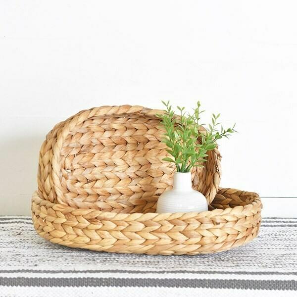 Sm Hyacinth Oval Tray w/o Handles