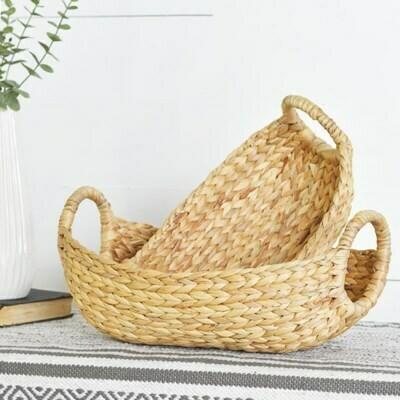 Lg Hyacinth Basket w Handles
