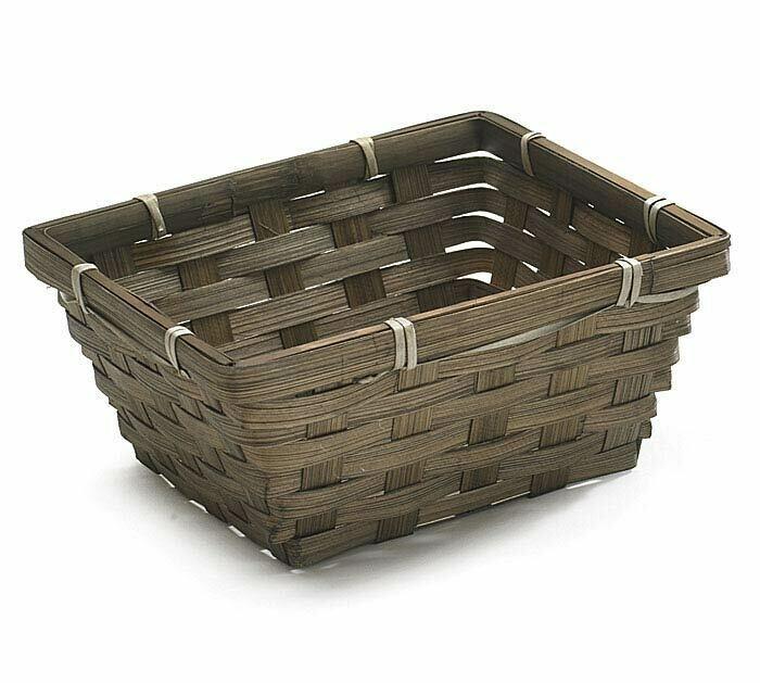 Sm Dk Brown Square Basket